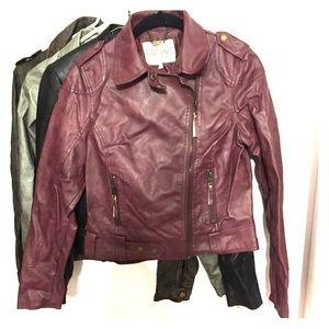 4 designer pleather jackets
